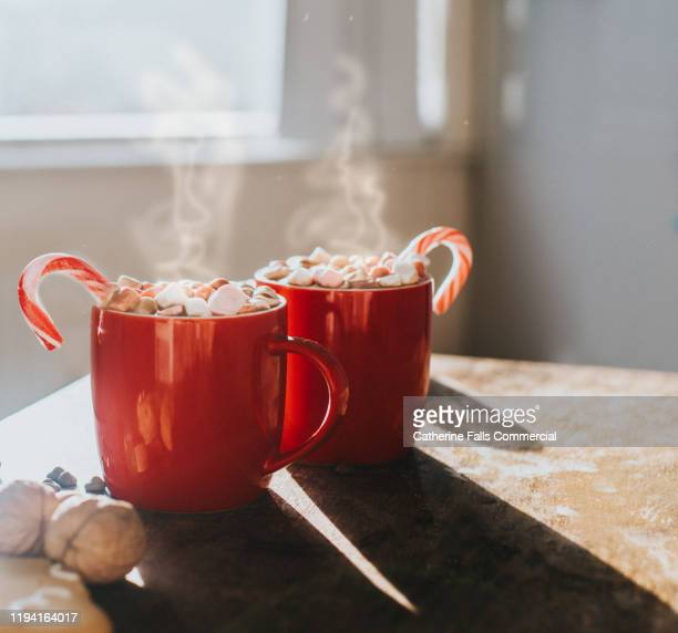 christmas hot chocolate - hot chocolate stock pictures, royalty-free photos & images