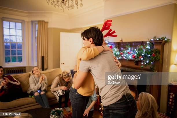 christmas hugs! - novelty item stock pictures, royalty-free photos & images