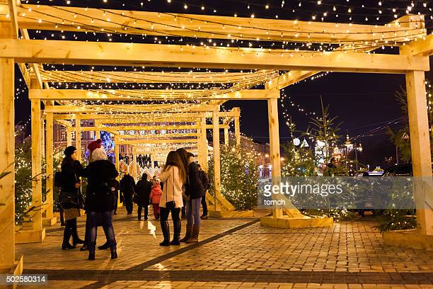 Luces de Navidad en Kyiv, Ucrania