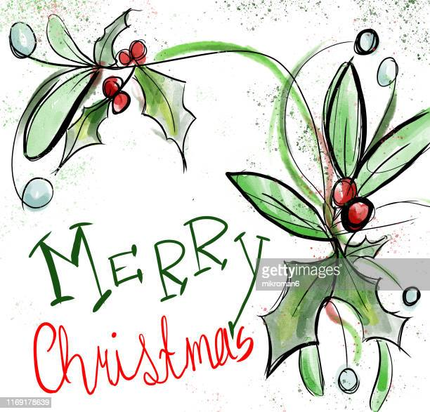 Christmas illustration - Christmas card wishes