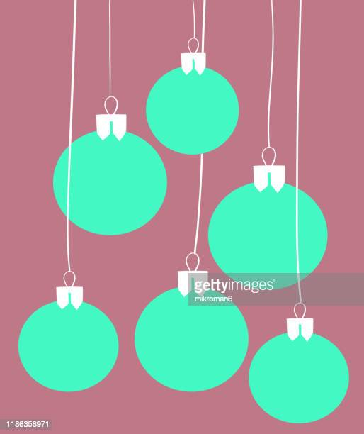 christmas illustration of christmas ornaments - christmas card - christmas vector stock photos and pictures