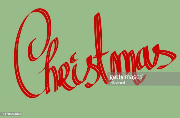 christmas illustration of christmas typography - christmas card - christmas vector stock photos and pictures