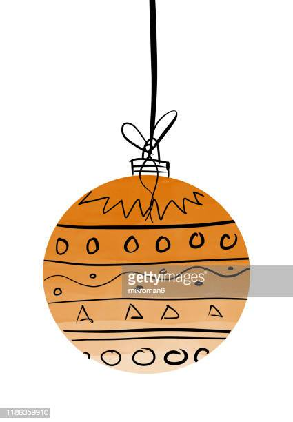 christmas illustration of ornaments- christmas card - christmas vector stock photos and pictures