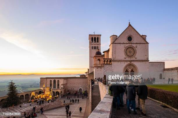 christmas in assisi, italy - umbria stock pictures, royalty-free photos & images