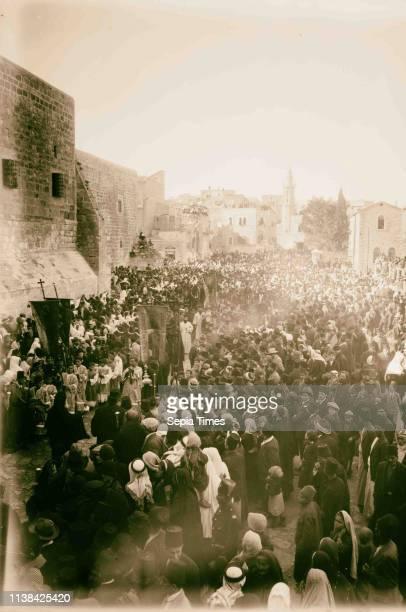 Christmas in Bethlehem, religious procession. 1898, West Bank, Bethlehem