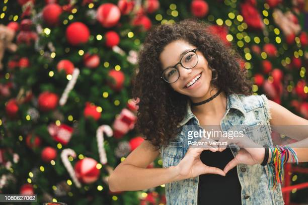 christmas in brazil - heart month stock photos and pictures