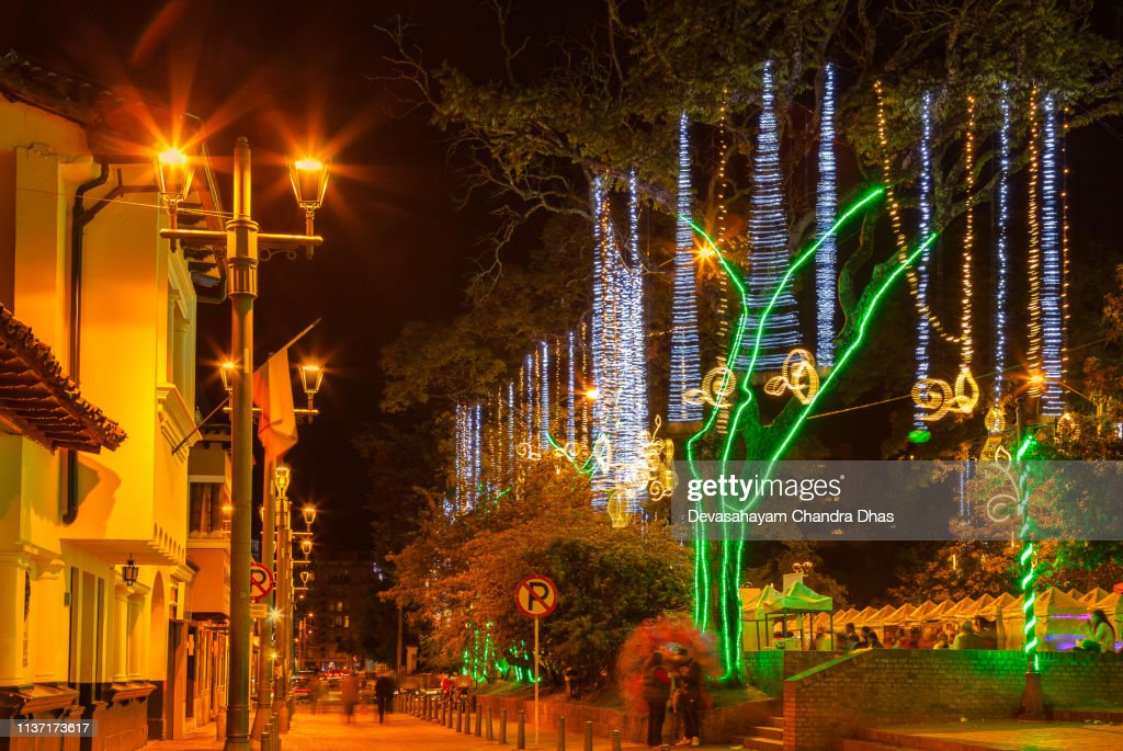Christmas In Colombia.Christmas In Colombia Led Christmas Illumination On The