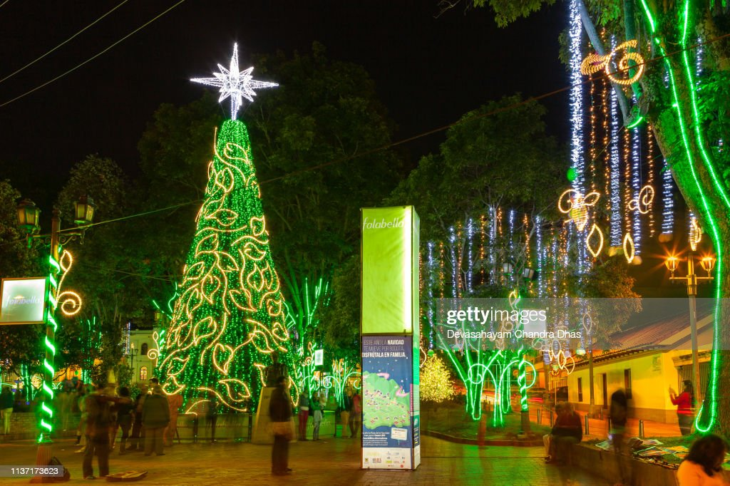 Christmas In Colombia.Christmas In Colombia Led Illumination Of Artificial