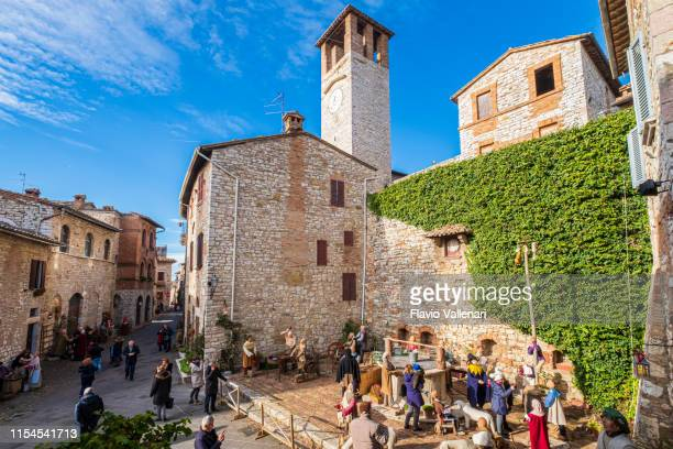 christmas in corciano, italy - umbria stock pictures, royalty-free photos & images