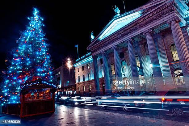 christmas in dublin - dublin república da irlanda - fotografias e filmes do acervo