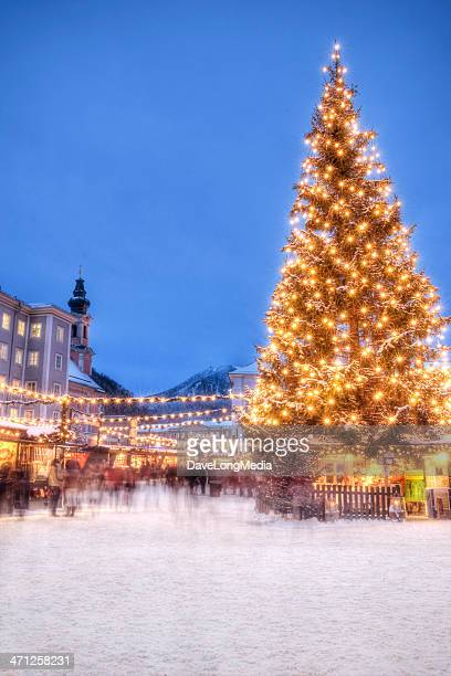 christmas in europe - salzburger land stock pictures, royalty-free photos & images