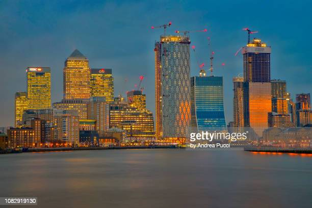 christmas in london, canary wharf, united kingdom - 2018 stock pictures, royalty-free photos & images