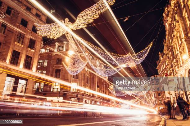 christmas in london - christmas decoration stock pictures, royalty-free photos & images