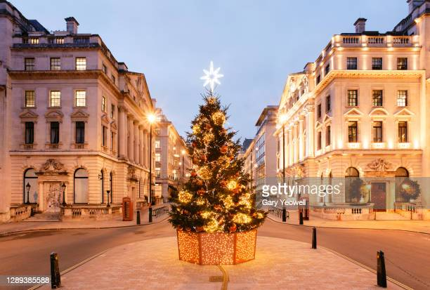 christmas in london - high street stock pictures, royalty-free photos & images