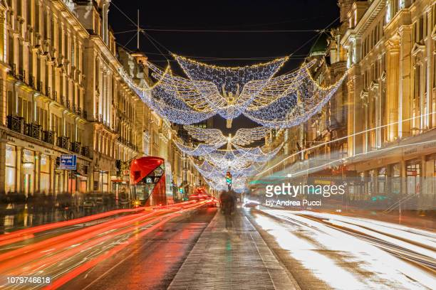 christmas in london, regent street, united kingdom - 2018 stock pictures, royalty-free photos & images