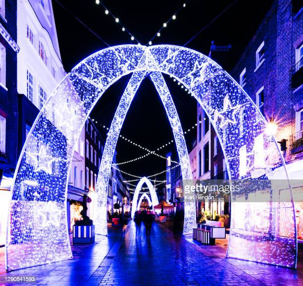 christmas in london - stock photo - diminishing perspective stock pictures, royalty-free photos & images