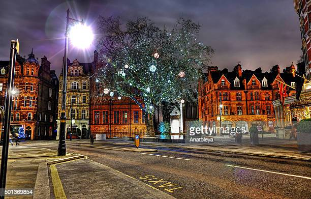 Christmas in Mayfair at Night