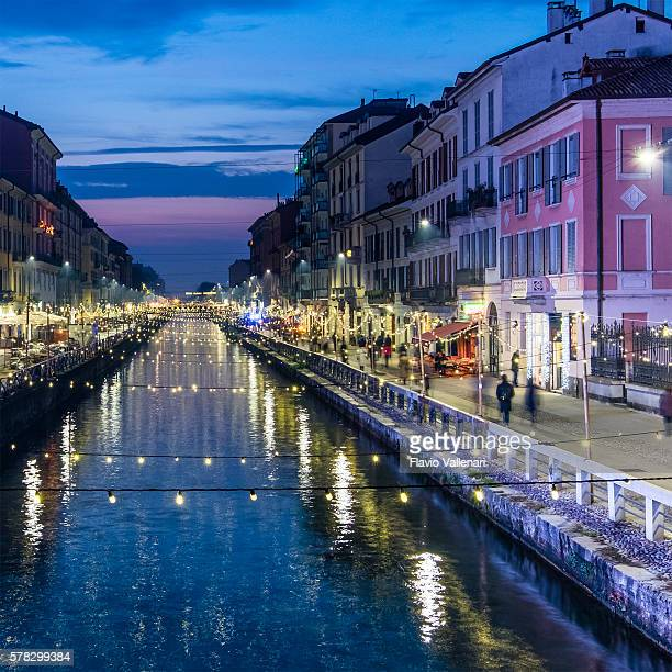 Christmas in Milan, Naviglio Grande - Italy