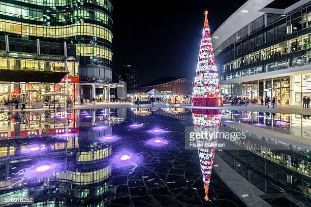 Christmas in Milan, Piazza Gae Aulenti - Italy