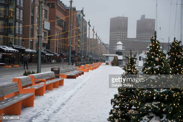 Christmas in Norway, decoration on the streets