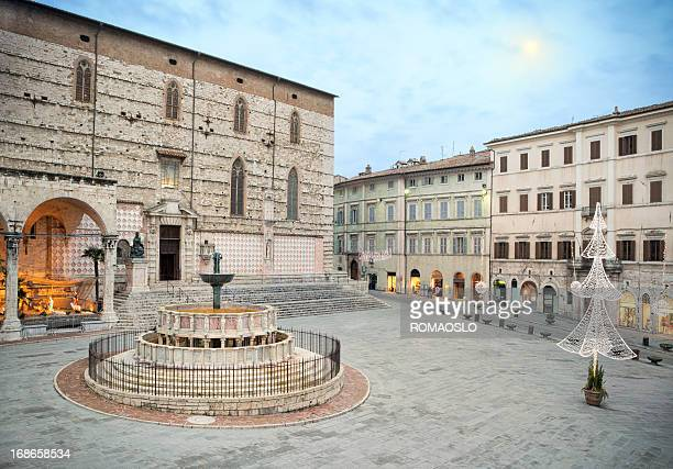christmas in perugia, umbria italy - perugia stock pictures, royalty-free photos & images