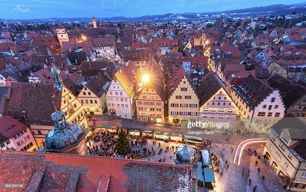 christmas in rothenburg ob der tauber stock photo getty images. Black Bedroom Furniture Sets. Home Design Ideas
