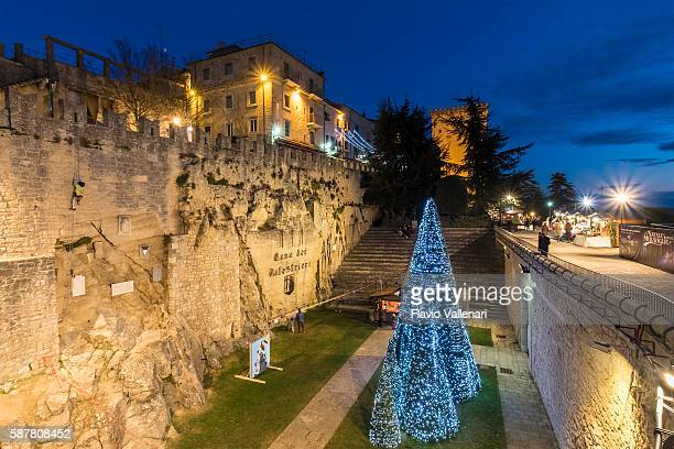 christmas in san marino - republic of san marino stock photos and pictures