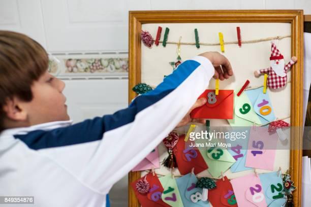 christmas in spain. day eight of the advent calendar - advent calendar fotografías e imágenes de stock