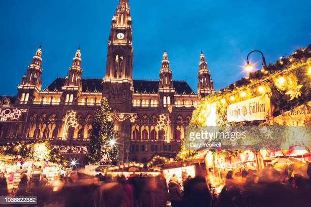 christmas in vienna - vienna austria stock pictures, royalty-free photos & images