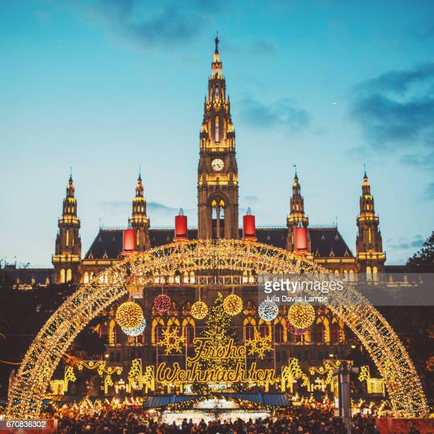 christmas in vienna. - vienna austria stock pictures, royalty-free photos & images