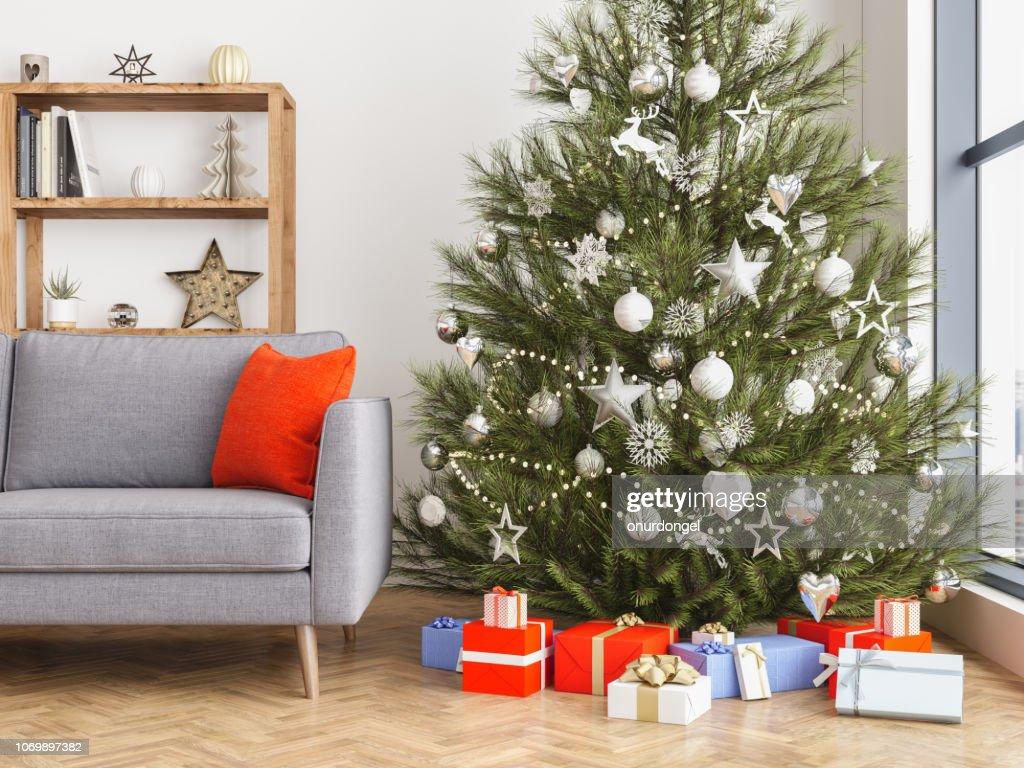 Christmas interior : Stock Photo