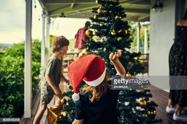 christmas is even better with children - christmas stock pictures, royalty-free photos & images
