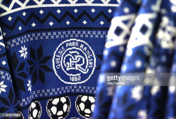 Christmas jumper for sale inside the club shop prior to the Sky Bet Championship match between Queens Park Rangers and Brentford at The Kiyan Prince...