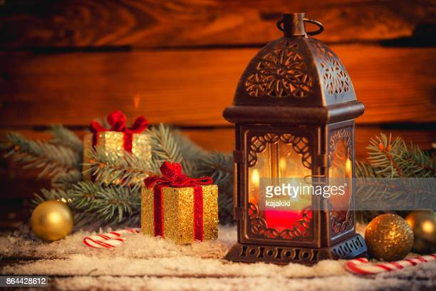 christmas lantern - country christmas stock pictures, royalty-free photos & images