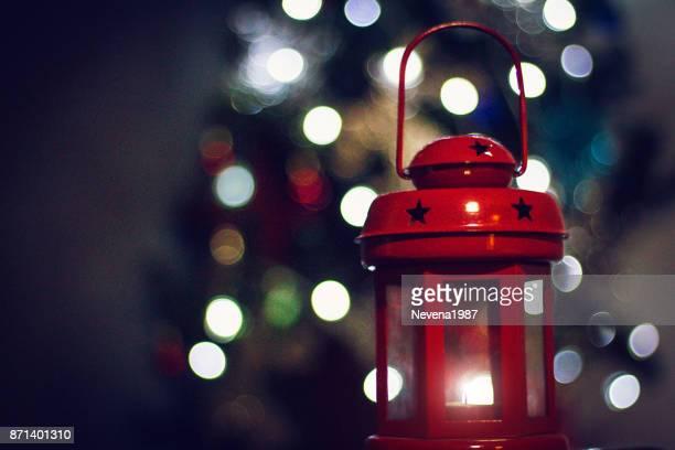 Weihnachten Laterne mit Weihnachtslicht