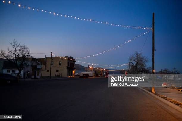 christmas light and decoration at green river, utah state, usa - small town america stock pictures, royalty-free photos & images