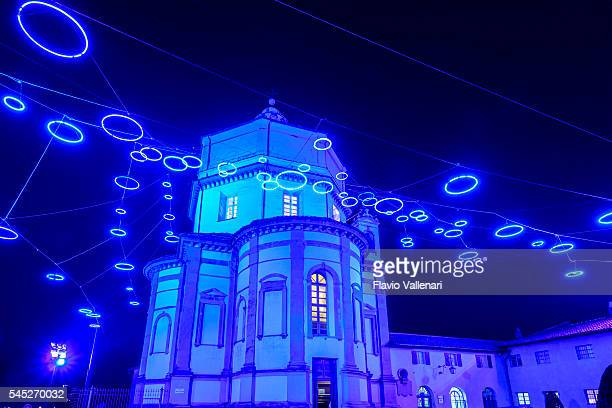 """Christmas Light Intallation """"Little Blue Spirits"""" - Turin, Italy"""