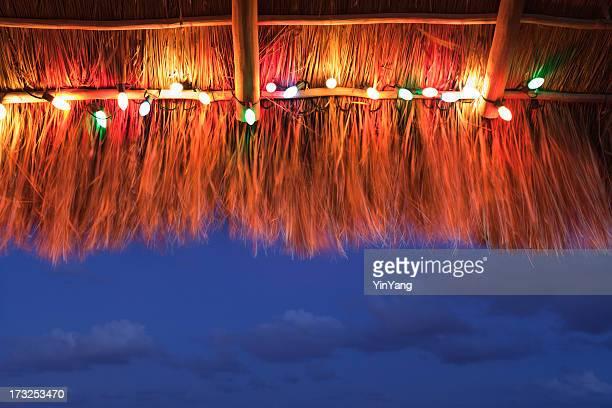 Christmas Light Under Tropical Palapa