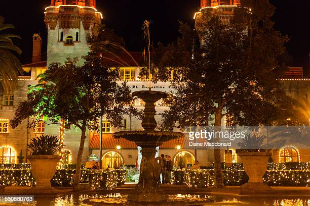 christmas lighting - st. augustine florida stock photos and pictures