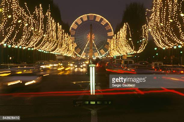 Christmas lights along the ChampsElysees