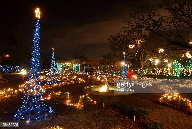 Christmas lights are seen at City Park's Celebration in the Oaks in the Lakeview District December 23, 2005 in New Orleans, Louisiana. Devastated by...