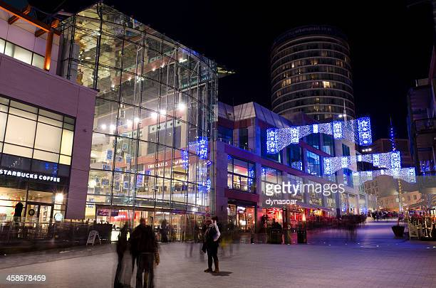 christmas lights, bullring shopping centre, birmingham - bullring shopping centre stock pictures, royalty-free photos & images