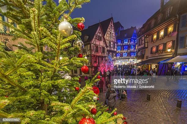 Christmas lights Colmar Alsace France