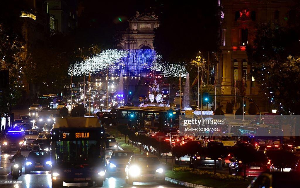SPAIN-CHRISTMAS-LIGHTS : News Photo