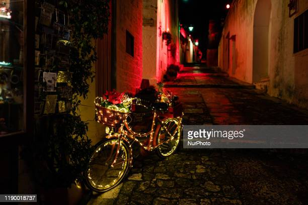 Christmas Lights illuminate the trulli of Alberobello on the occasion of Christmas 2019 on 21 December A show of colors and lights invades the trulli...