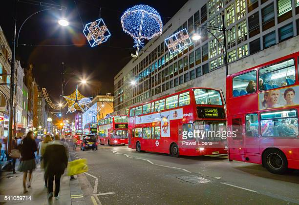 Christmas lights in Oxford Street