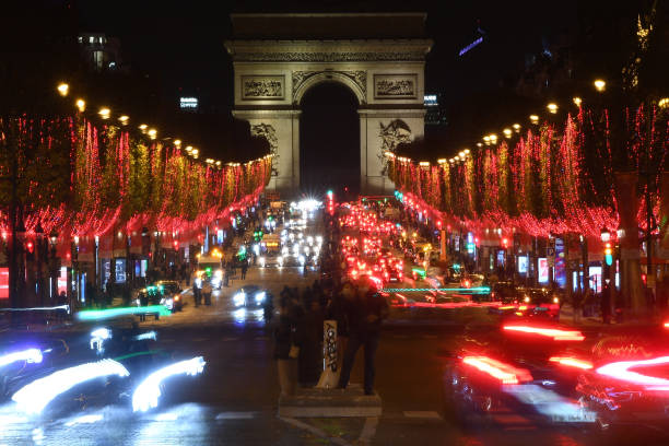 FRA: Christmas Lights Launch On The Champs Elysees In Paris