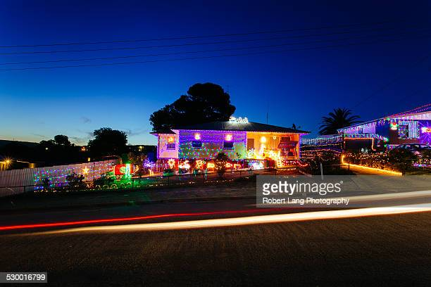 Christmas lights on suburban Australian home