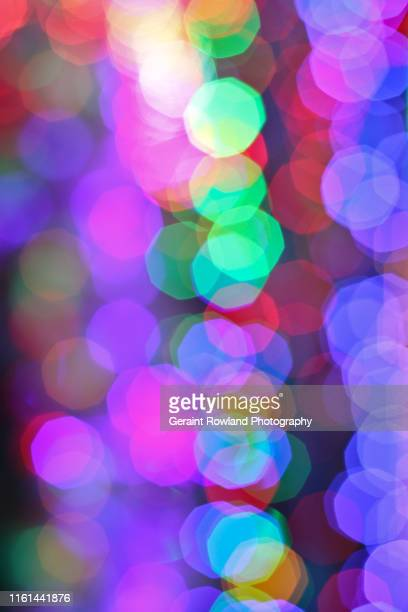 christmas lights - screen saver stock photos and pictures
