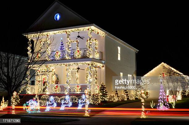 christmas lights - christmas decoration stock pictures, royalty-free photos & images